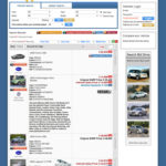 Vehicle listing. Users can subscribe to RSS, Print and